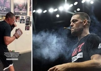 Nate Diaz smokes CBD joint as he trains for UFC 244 clash with Jorge Masvidal – Express